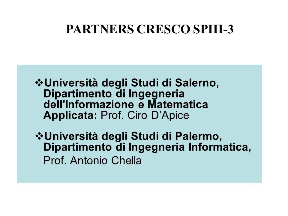 Università degli Studi di Salerno, Dipartimento di Ingegneria dell Informazione e Matematica Applicata: Prof.