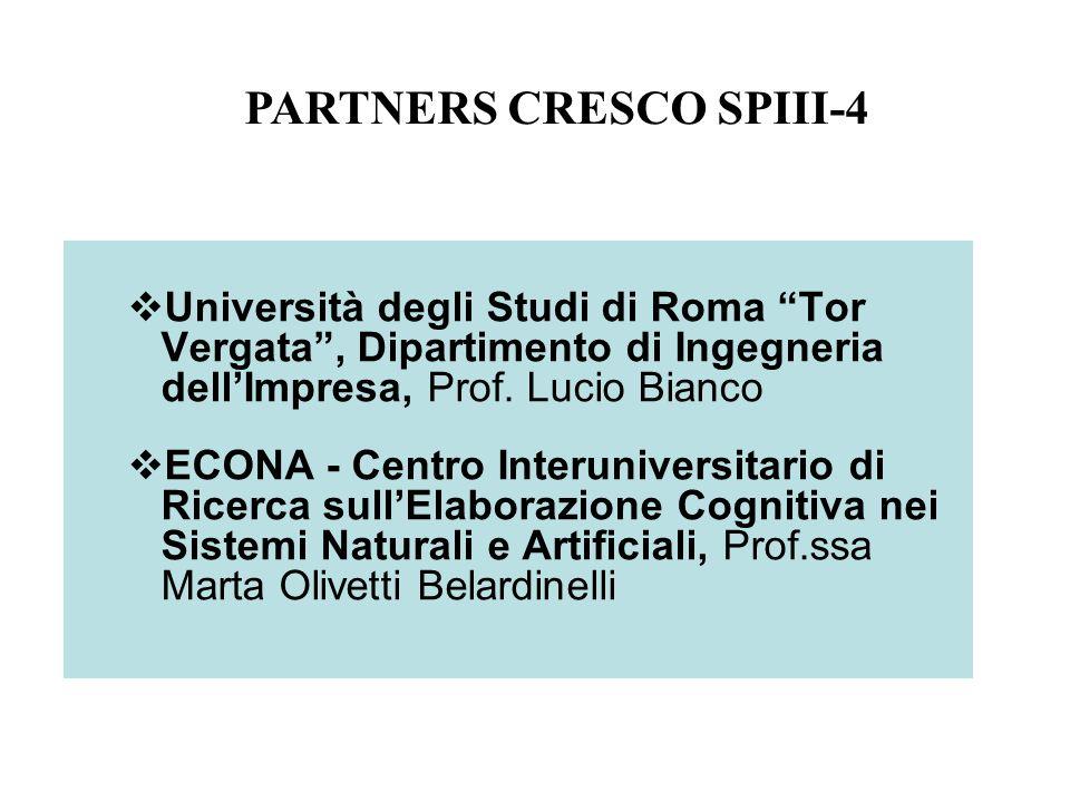 Università degli Studi di Roma Tor Vergata, Dipartimento di Ingegneria dellImpresa, Prof. Lucio Bianco ECONA - Centro Interuniversitario di Ricerca su