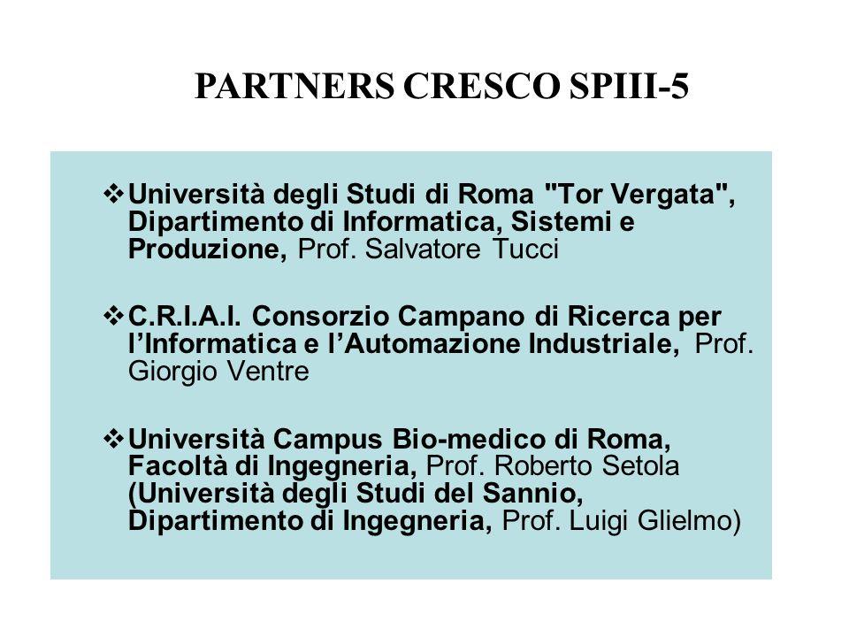Università degli Studi di Roma Tor Vergata , Dipartimento di Informatica, Sistemi e Produzione, Prof.