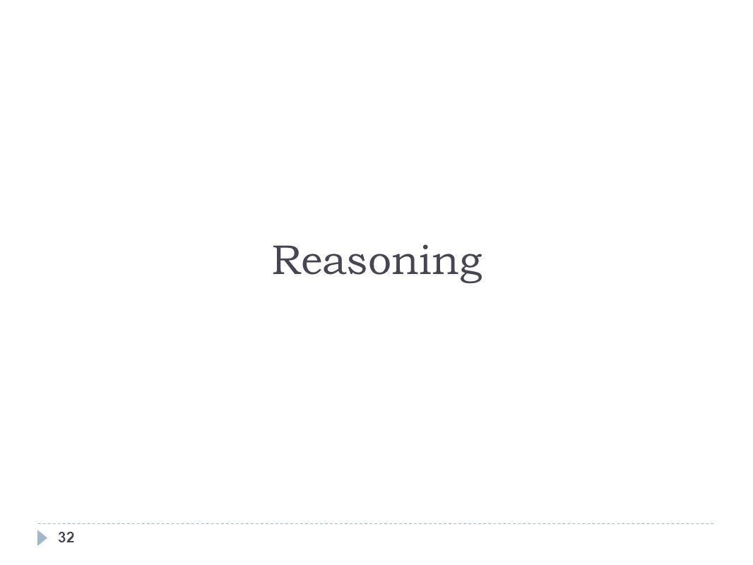 32 Reasoning