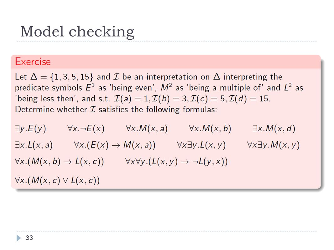 Model checking 33