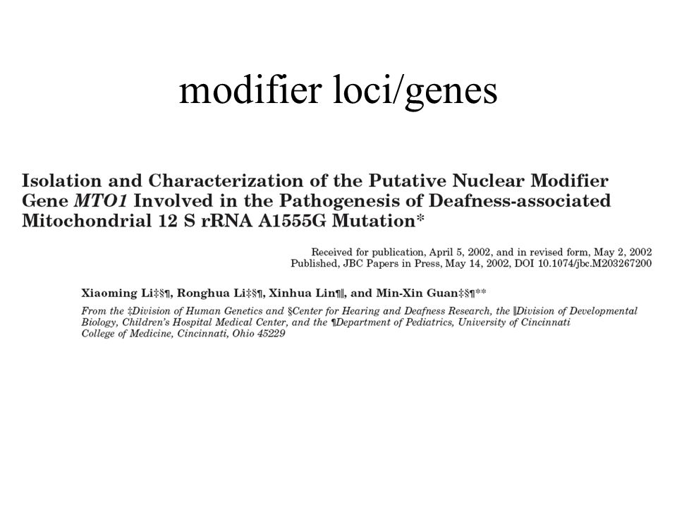 Published online: 22 January 2002, doi:10.1038/ng819 volume 30 no.