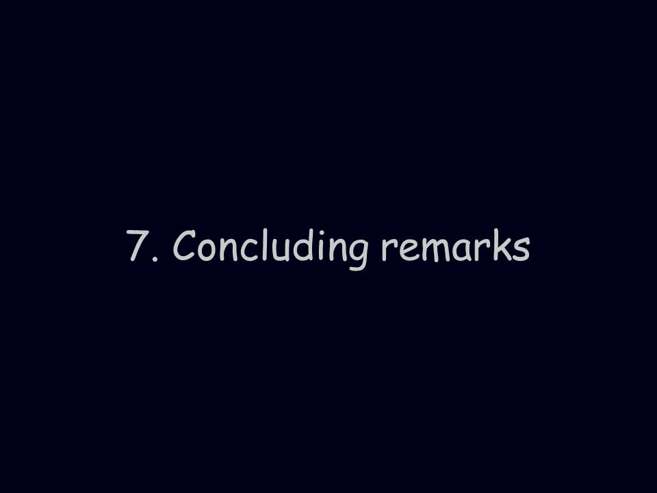 7. Concluding remarks
