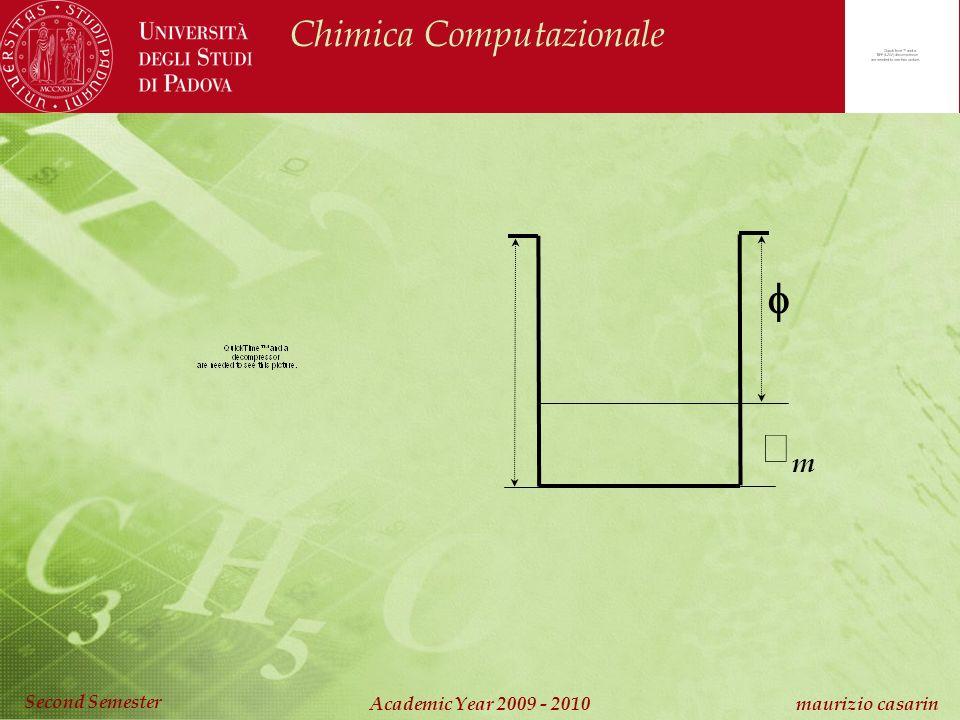 Chimica Computazionale Academic Year 2009 - 2010 maurizio casarin Second Semester m