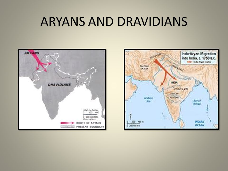 ARYANS AND DRAVIDIANS