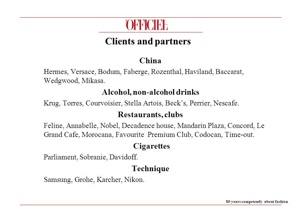 China Hermes, Versace, Bodum, Faberge, Rozenthal, Haviland, Baccarat, Wedgwood, Mikasa.