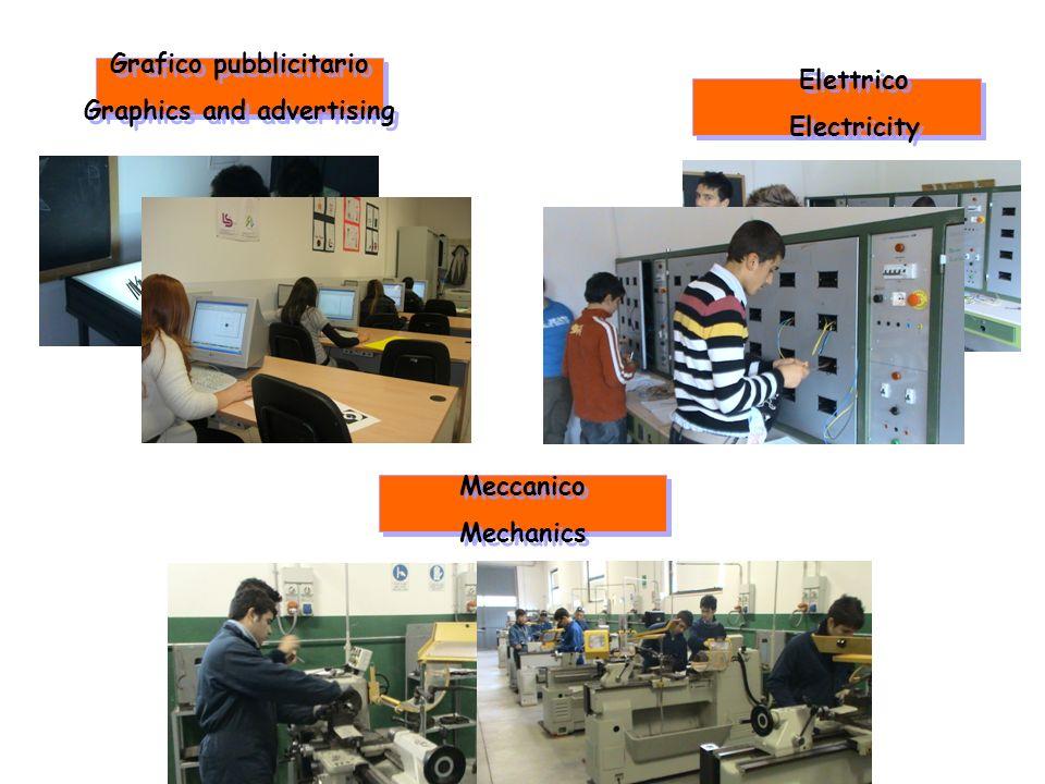 Elettrico Electricity Elettrico Electricity Meccanico Mechanics Meccanico Mechanics Grafico pubblicitario Graphics and advertising Grafico pubblicitar