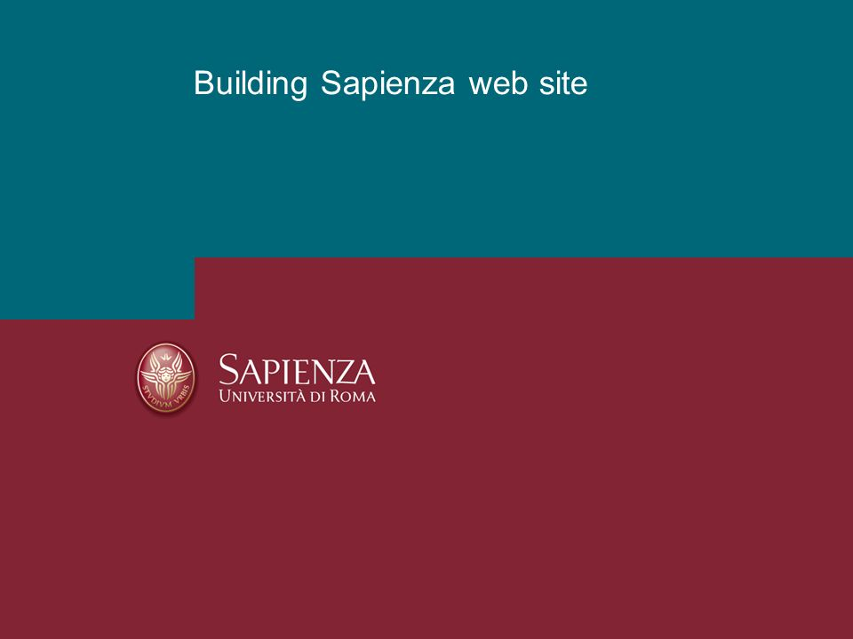 Building Sapienza web site
