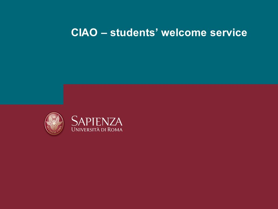 CIAO – students welcome service