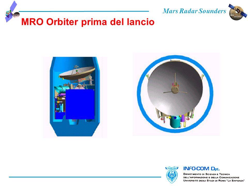 Mars Radar Sounders MRO Orbiter prima del lancio