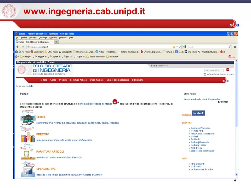 4 www.ingegneria.cab.unipd.it