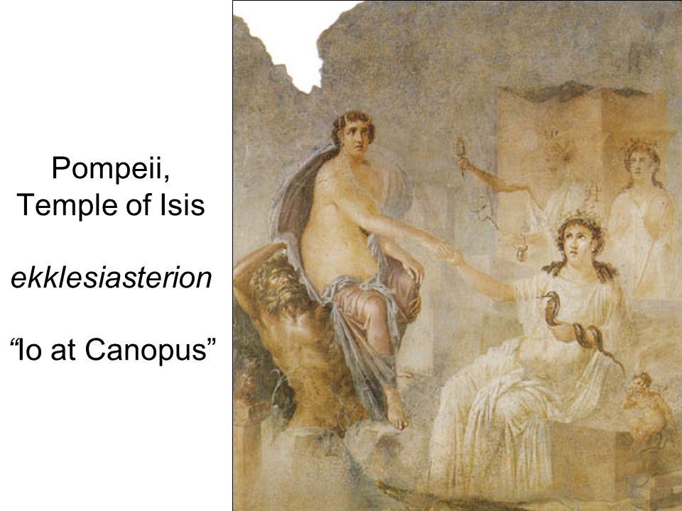 Pompeii, Temple of Isis ekklesiasterionIo at Canopus