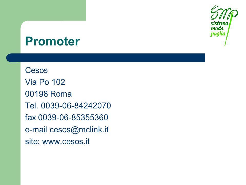 Promoter Cesos Via Po 102 00198 Roma Tel.