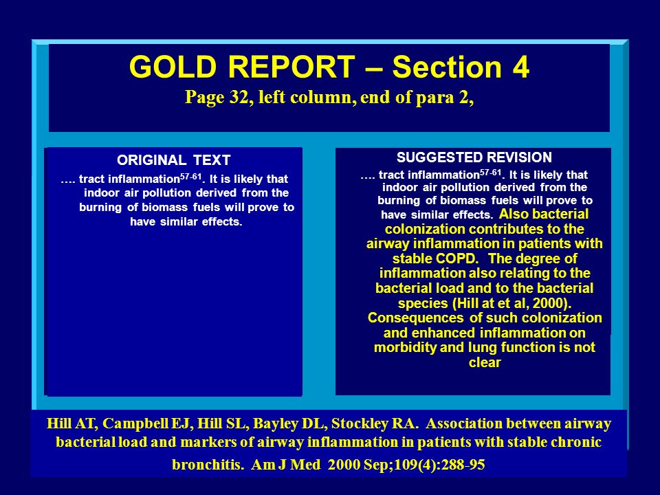 GOLD REPORT – Section 4 Page 32, left column, end of para 2, ORIGINAL TEXT ….