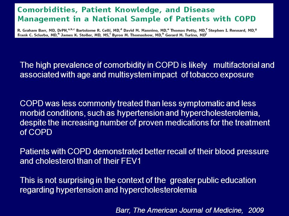 Emphysema severity is associated with arterial stiffness in patients with COPD Similar pathophysiological processes may be involved in both lung and arterial tissue Further studies are now required to identify the mechanism underlying this newly described association MacNee W et al, AJRCCM 2007; 176:1208-1214 ARTERIAL STIFFNESS IS INDEPENDENTLY ASSOCIATED WITH EMPHYSEMA SEVERITY IN PATIENTS WITH CHRONIC OBSTRUCTIVE PULMONARY DISEASE
