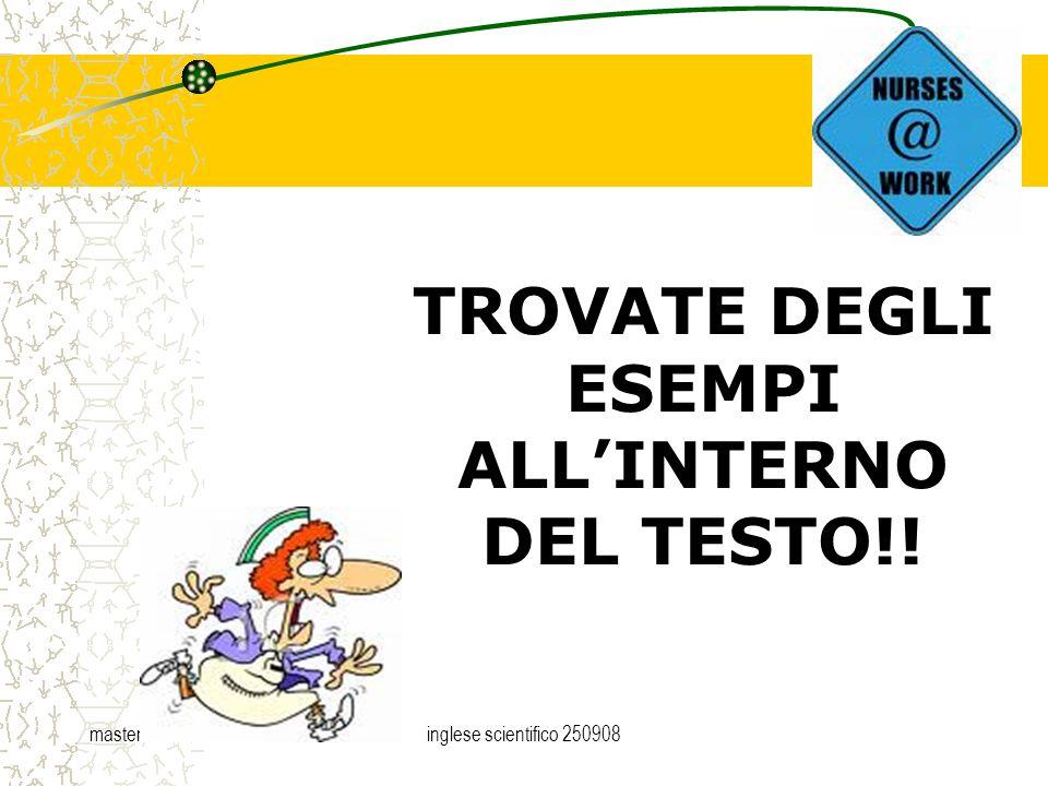 master trentoinglese scientifico 250908 TROVATE DEGLI ESEMPI ALLINTERNO DEL TESTO!!