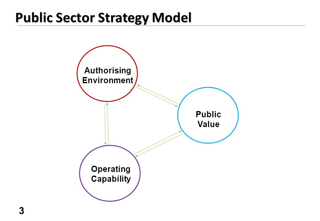 3 Public Sector Strategy Model Authorising Environment Public Value Operating Capability