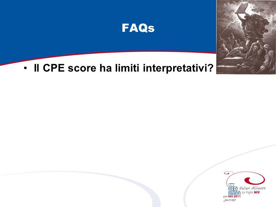 FAQs Il CPE score ha limiti interpretativi