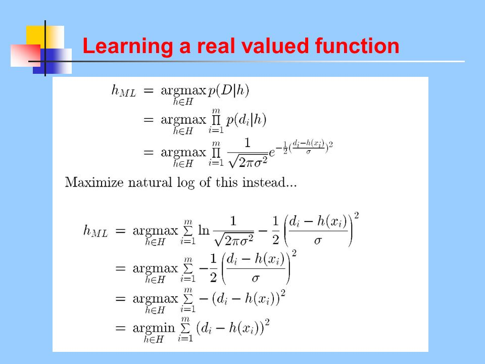 Learning a real valued function