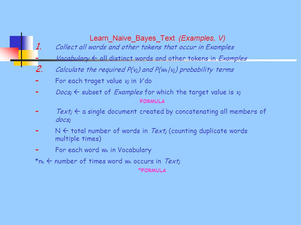 Learn_Naive_Bayes_Text (Examples, V) 1.