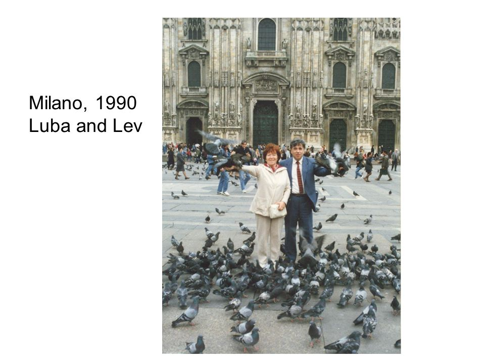 Milano, 1990 Luba and Lev