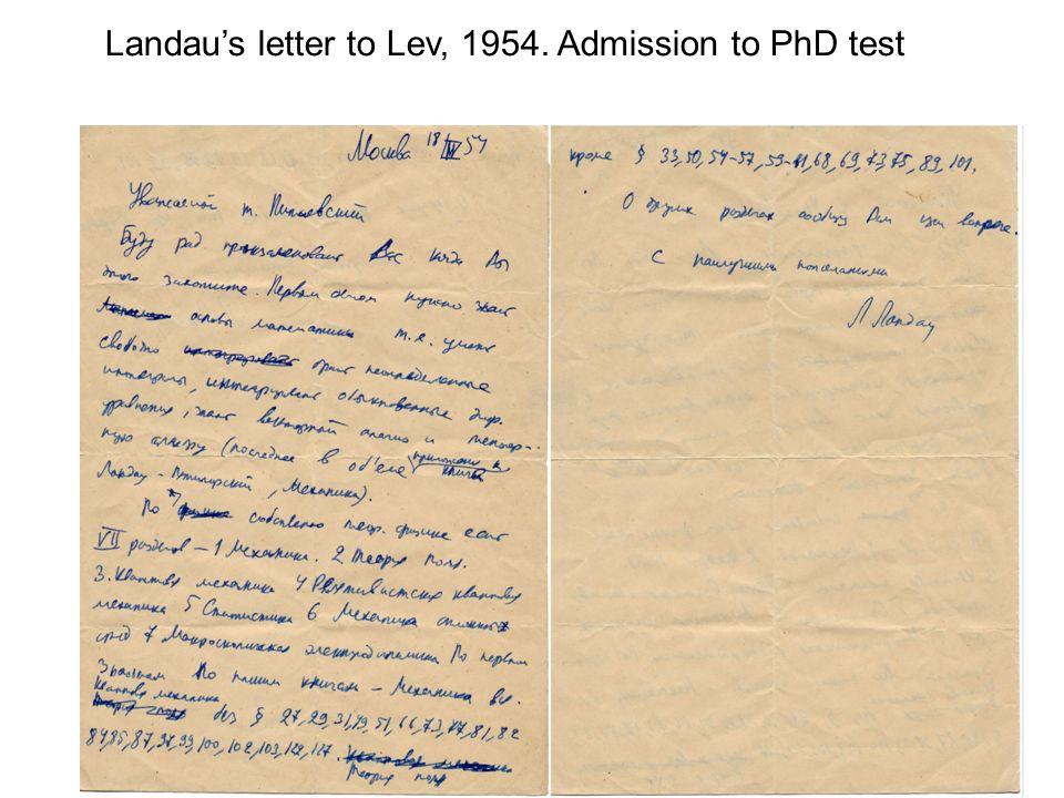 Landaus register of examinations