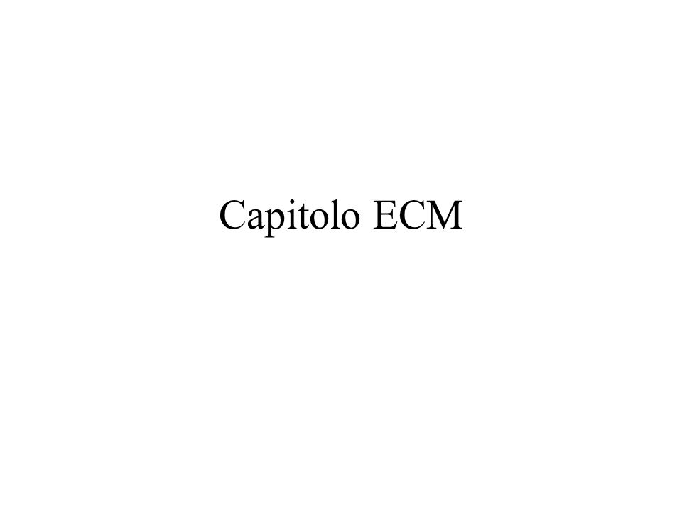 Capitolo ECM