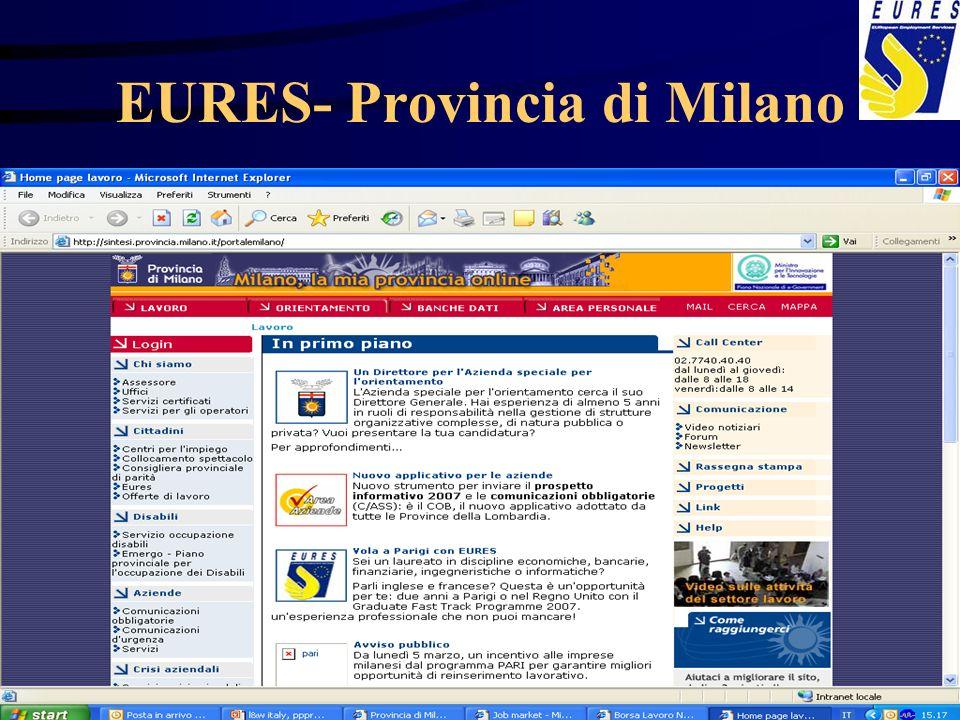 EURES- Provincia di Milano