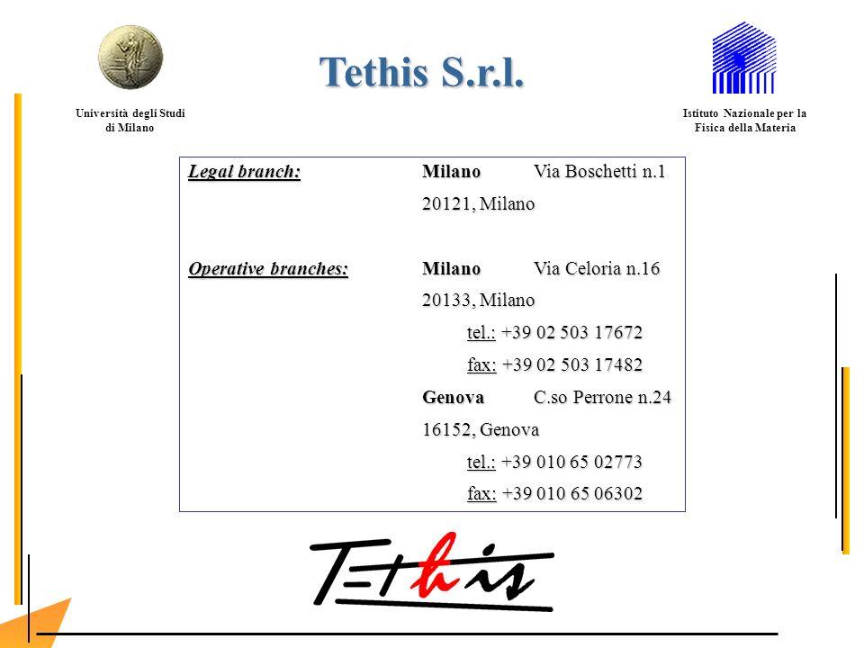 Legal branch:MilanoVia Boschetti n.1 20121, Milano Operative branches: MilanoVia Celoria n.16 20133, Milano tel.: +39 02 503 17672 fax: +39 02 503 174
