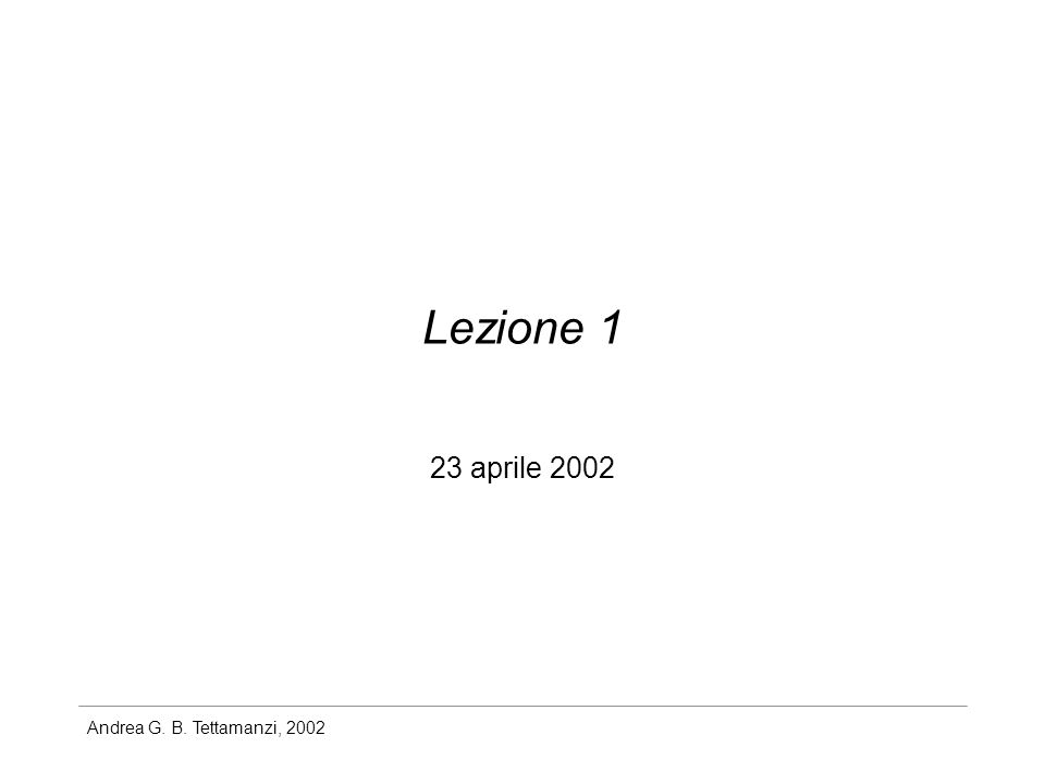 Andrea G. B. Tettamanzi, 2002 Variabili aleatorie 0 X