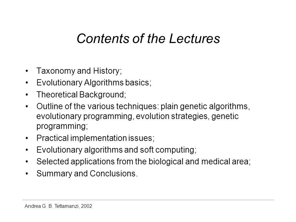 Andrea G.B. Tettamanzi, 2002 Bibliography Th. Bäck.