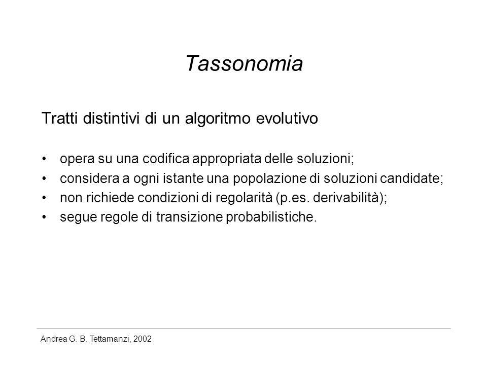 Andrea G. B. Tettamanzi, 2002 The Schema Theorem (proof)