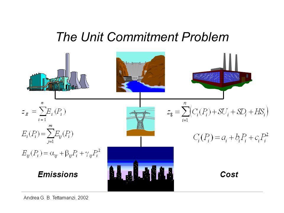 Andrea G. B. Tettamanzi, 2002 The Unit Commitment Problem EmissionsCost