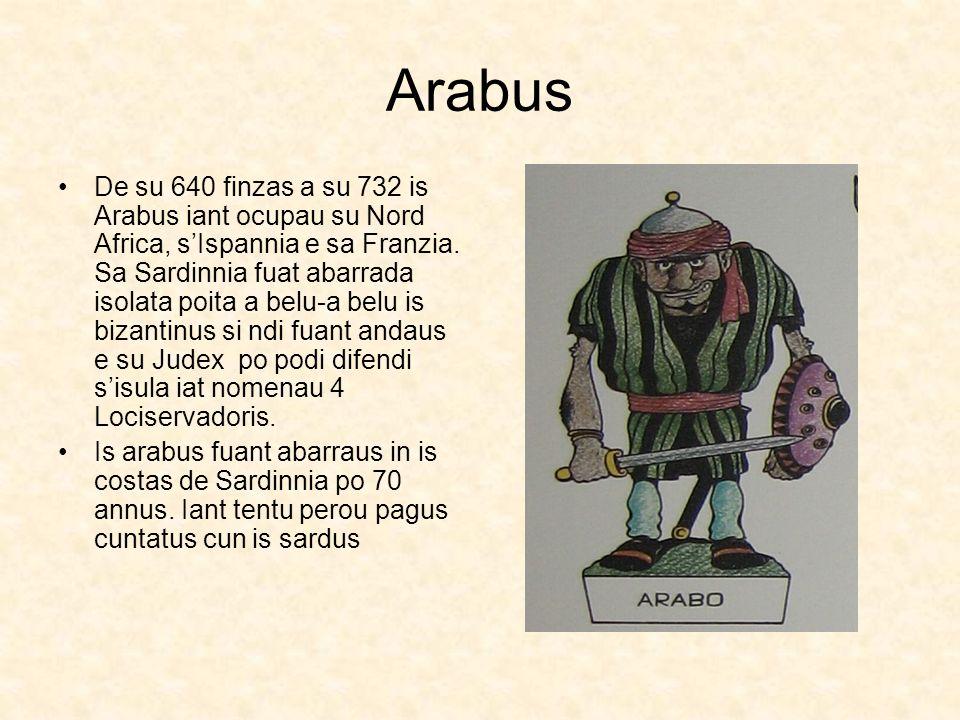 Arabus De su 640 finzas a su 732 is Arabus iant ocupau su Nord Africa, sIspannia e sa Franzia. Sa Sardinnia fuat abarrada isolata poita a belu-a belu
