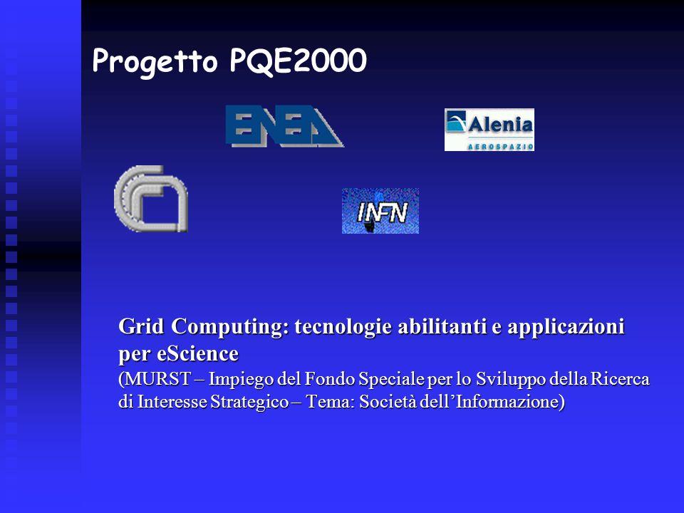 Progetto PQE2000 Grid Computing: tecnologie abilitanti e applicazioni per eScience (MURST – Impiego del Fondo Speciale per lo Sviluppo della Ricerca d