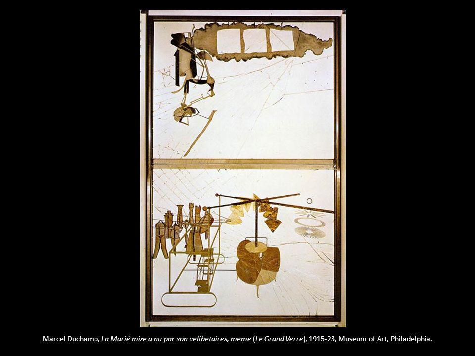 Marcel Duchamp, La Marié mise a nu par son celibetaires, meme (Le Grand Verre), 1915-23, Museum of Art, Philadelphia.