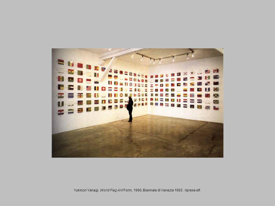 Yukinori Yanagi, World Flag Ant Form, 1990, Biennale di Venezia 1993, riprese elf.