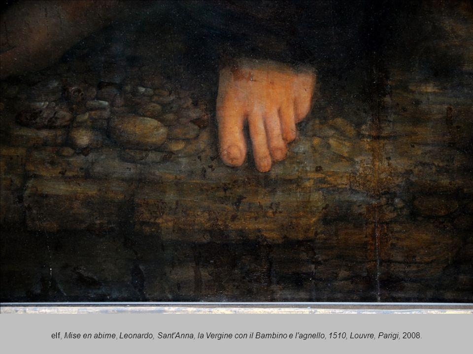 elf, Mise en abime, Leonardo, Sant Anna, la Vergine con il Bambino e l agnello, 1510, Louvre, Parigi, 2008.