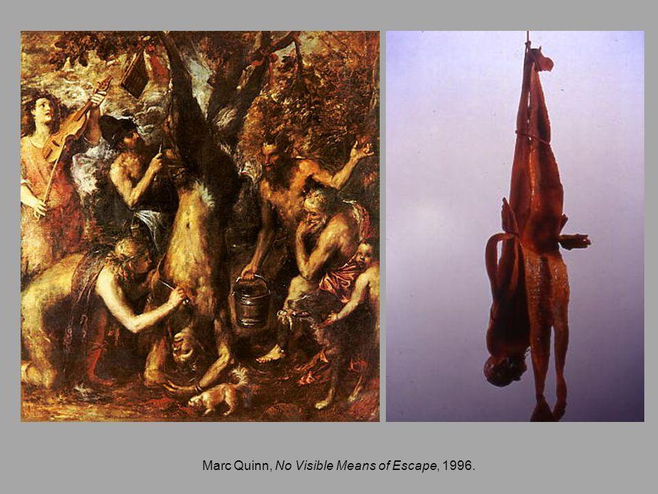 Marc Quinn, No Visible Means of Escape, 1996.