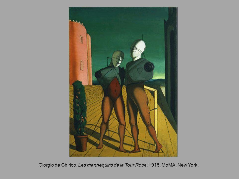 Giorgio de Chirico, Les mannequins de la Tour Rose, 1915, MoMA, New York.