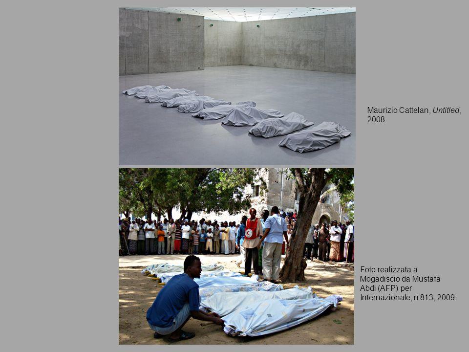 Maurizio Cattelan, Untitled, 2008. Foto realizzata a Mogadiscio da Mustafa Abdi (AFP) per Internazionale, n 813, 2009.