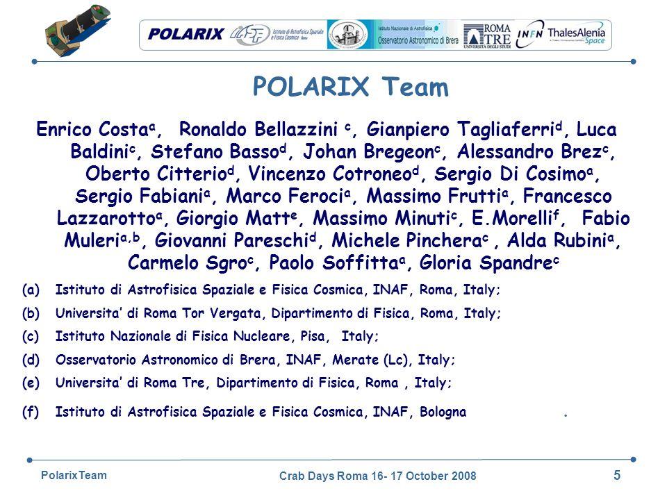 Crab Days Roma 16- 17 October 2008 46 PolarixTeam Sensitivity