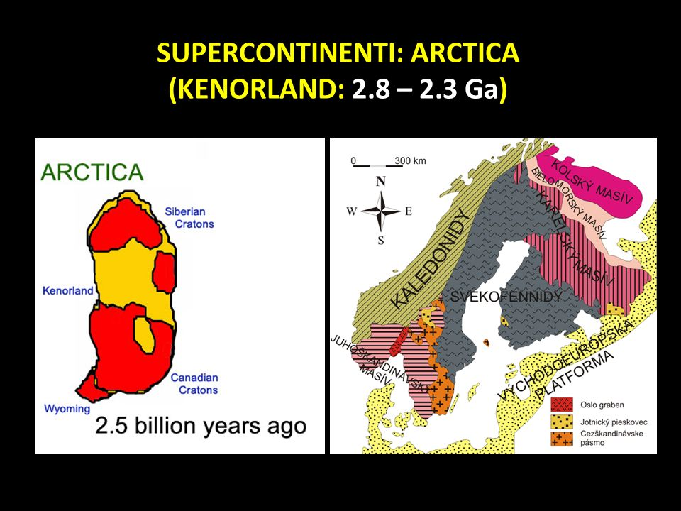 SUPERCONTINENTI: ARCTICA (KENORLAND: 2.8 – 2.3 Ga)