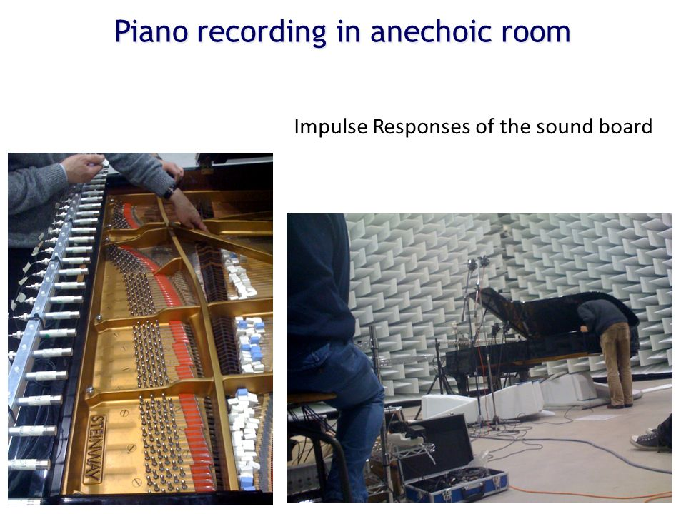 Piano recording in anechoic room Impulse Responses of the sound board