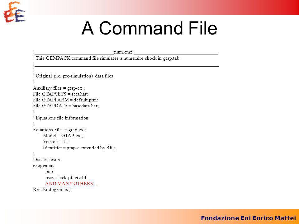 Fondazione Eni Enrico Mattei A Command File !________________________________num.cmf __________________________________ .