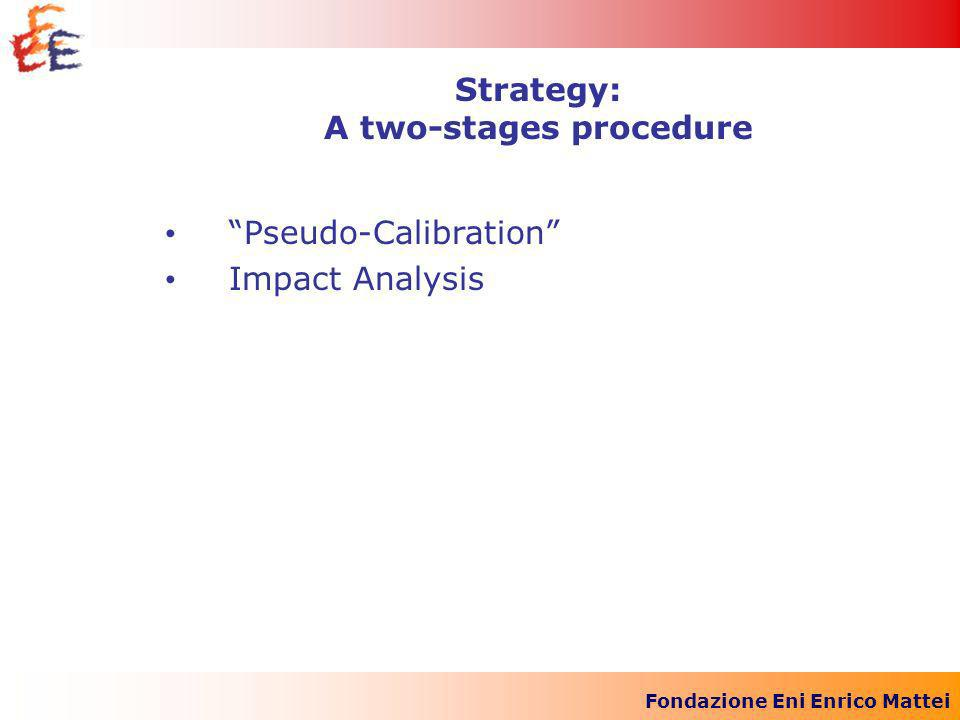 Fondazione Eni Enrico Mattei Pseudo-Calibration Impact Analysis Strategy: A two-stages procedure