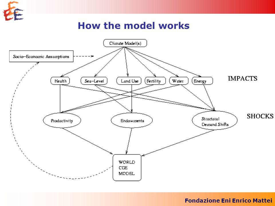 Fondazione Eni Enrico Mattei How the model works