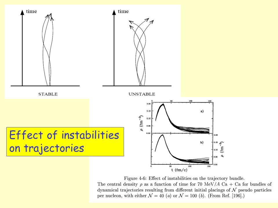Effect of instabilities on trajectories