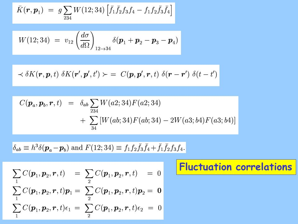 Fluctuation correlations