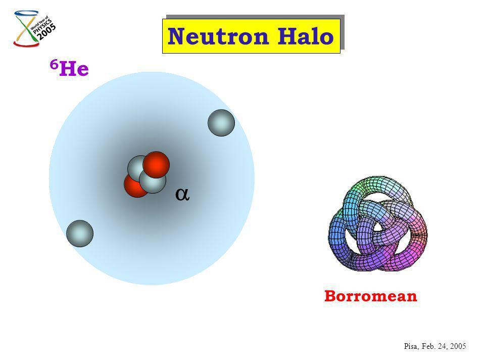 6 He Neutron Halo Borromean Pisa, Feb. 24, 2005